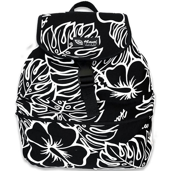 Monstera and Hibiscus Print Backpack