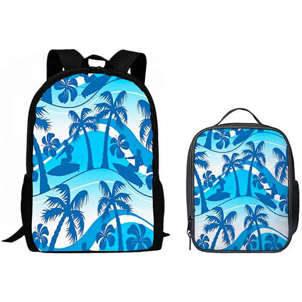 Surfer with Palm Tree Hawaiian Backpack