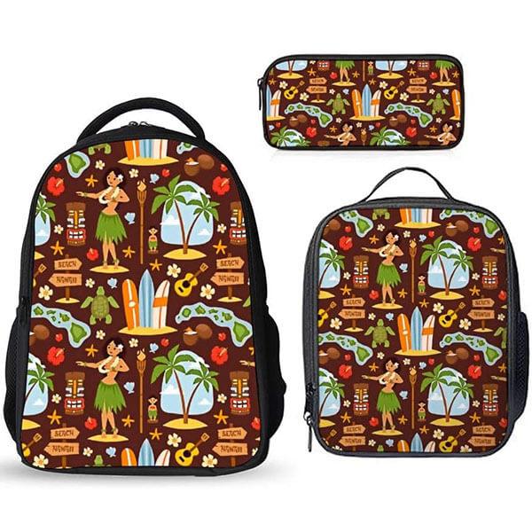 Hawaiian Pattern Boys Girls Backpack