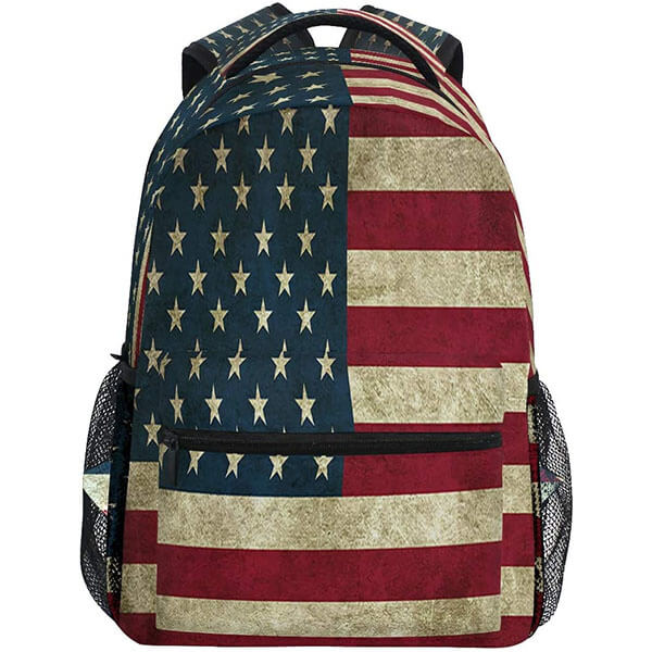 Classic USA Flag Printed Backpack