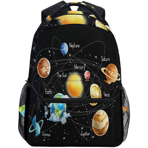 Classy Black Color Solar System backpack