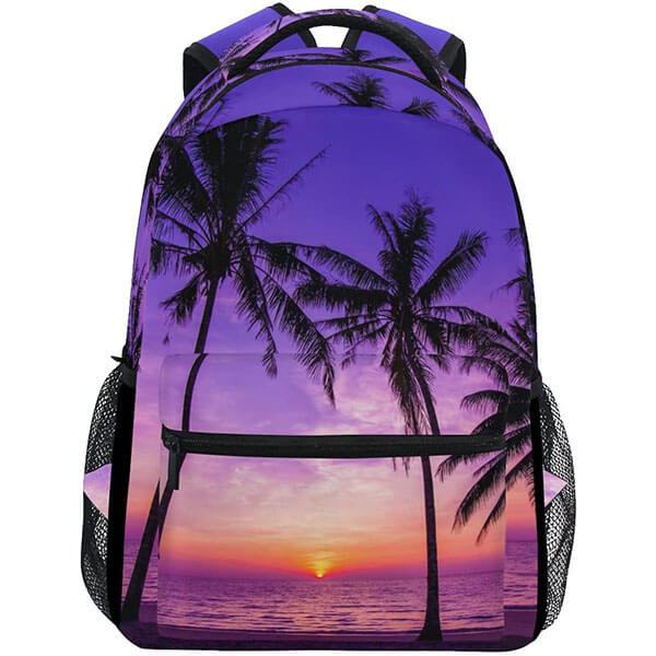 Palm Tree Ocean Theme Backpack