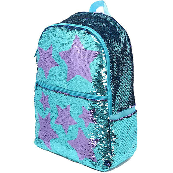 Sequin Sparkly Stars School Backpack