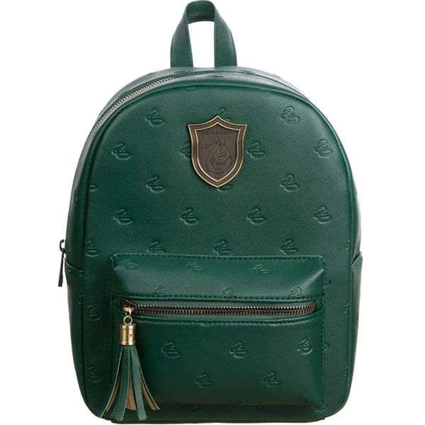 Slytherin Crest Faux Leather Girls Mini Backpack