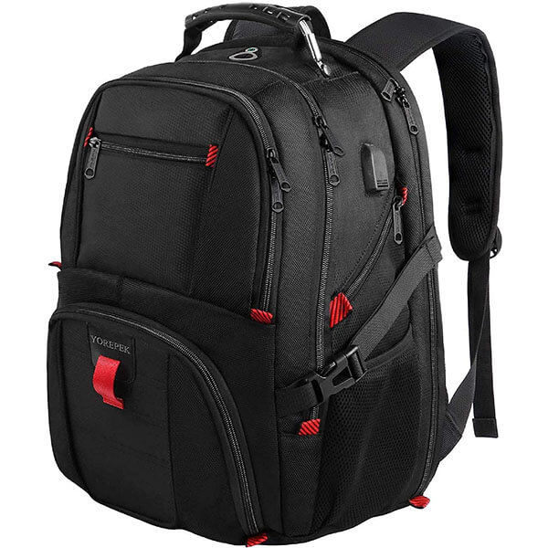Spacious Backpack for Outdoors with USB Slot