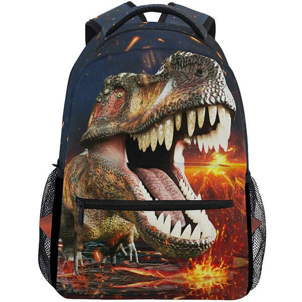 3D T-Rex Twill Fabric Laptop Backpack