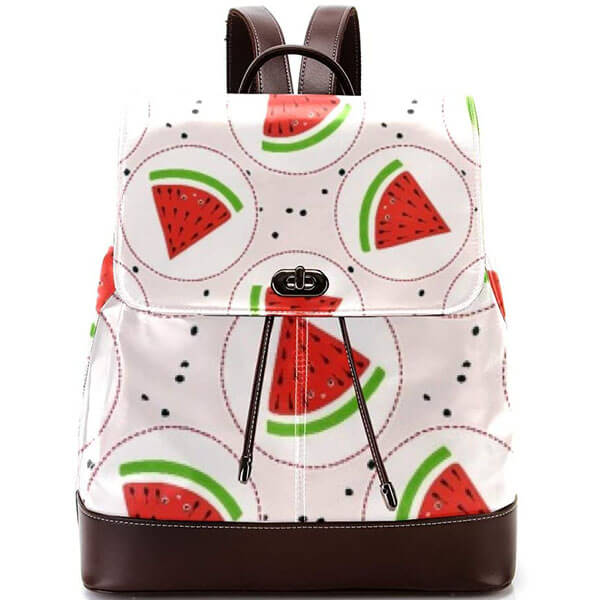Classy Faux Leather Fruit Backpack