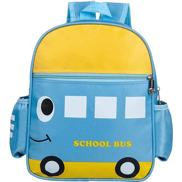 Gorgeous Canvas School Bus Backpack for Boys & Girls