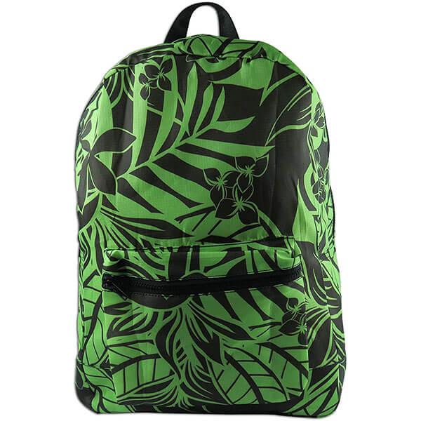 Hawaiian Print Foldaway Backpack