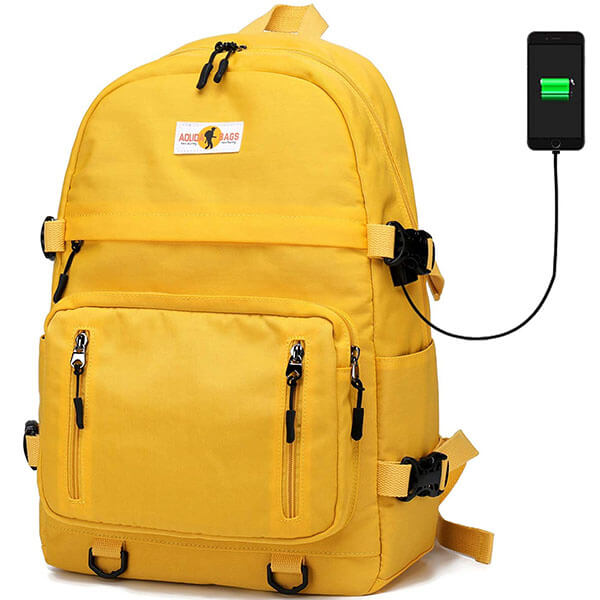 Yellow Functional Sport Backpack for Kids
