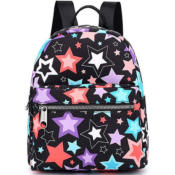 Cute Multi-Colored Stars Girls Mini Backpack