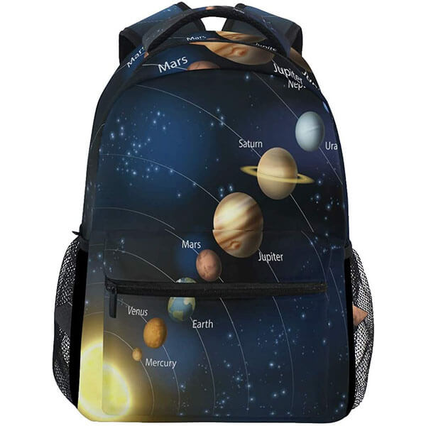 Mysterious Outer Space Solar System Backpack