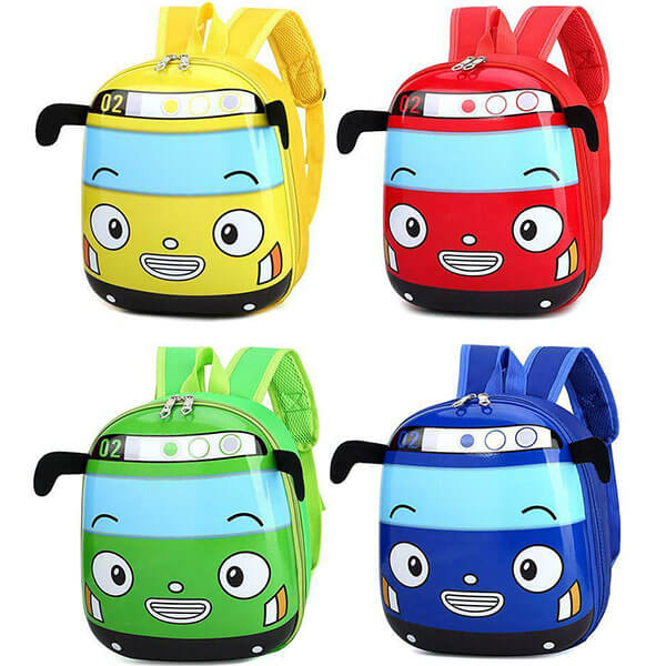 Vivid 3D EVA Cartoon Bus Toddler Backpack
