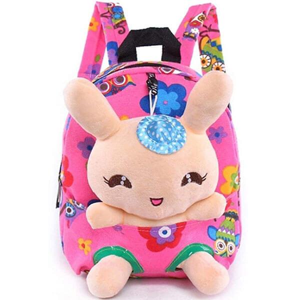 Adorable Rabbit Nylon Backpack for Girls