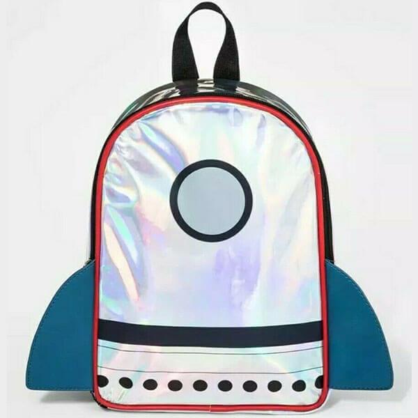 Silver Color Spaceship Backpack for Preschooler