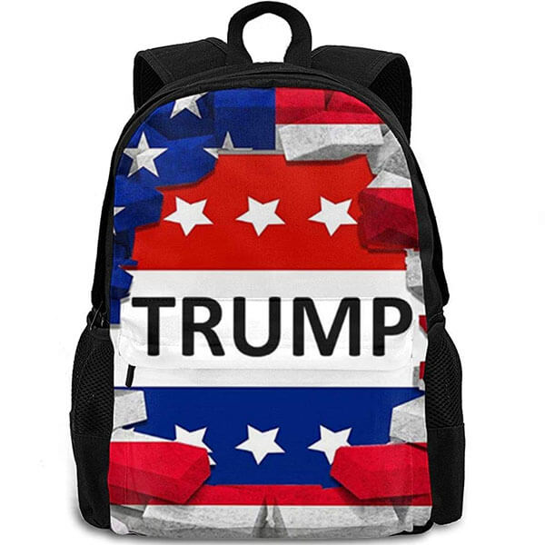USA President Trump School Backpack
