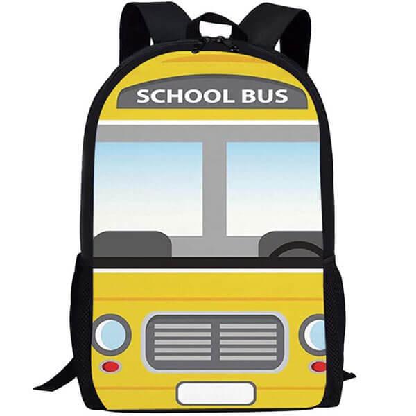 3D School Bus Pattern Backpack