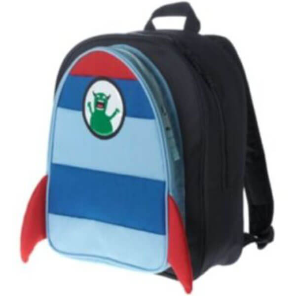 Alien Monster Spaceship Backpack with Lunch Box