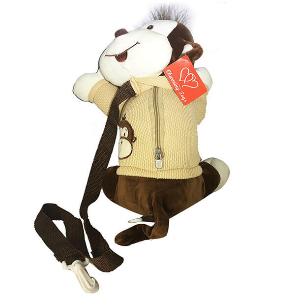 Soft Plush Monkey Safety Backpack for Toddler