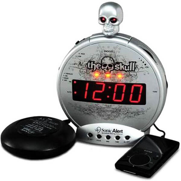 The Skull With Bone Crusher Alarm Clock