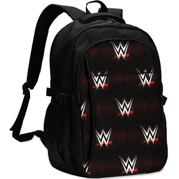 WWE School Backpack with USB Charging Port