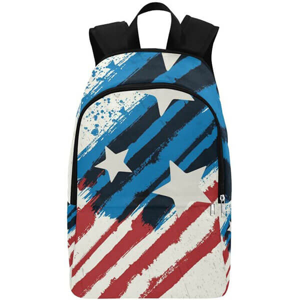 American Flag Casual Canvas Backpack