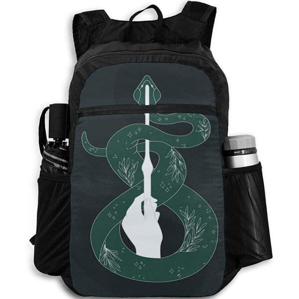 Customized Harry Potter Slytherin Rainproof Backpack