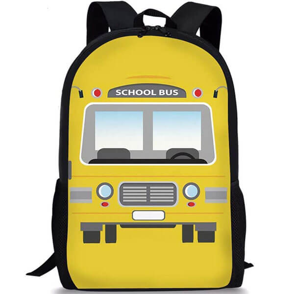 Fashionable Children School Bus Shoulder Backpack