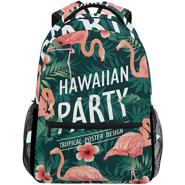 Flamingo Print Hawaiian Backpack