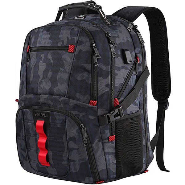 Oxford Large Capacity Backpack with USB Port