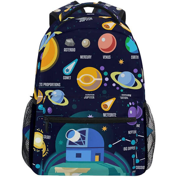 Solar System Themed Backpack for Men and Women