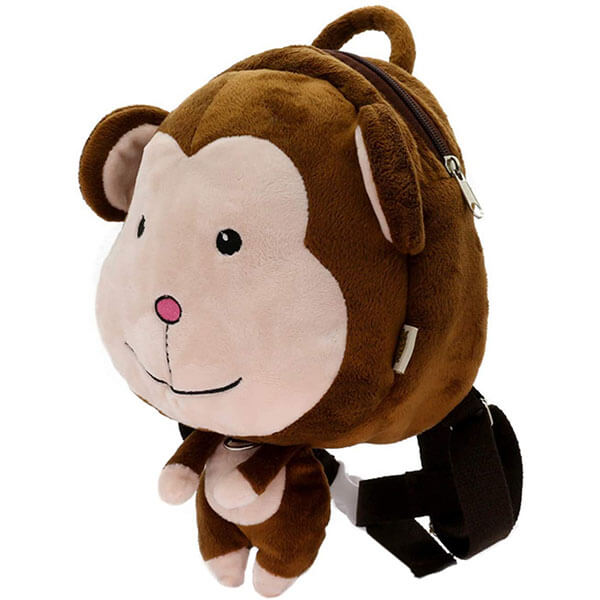 Unisex Monkey Backpack with Safety Leash