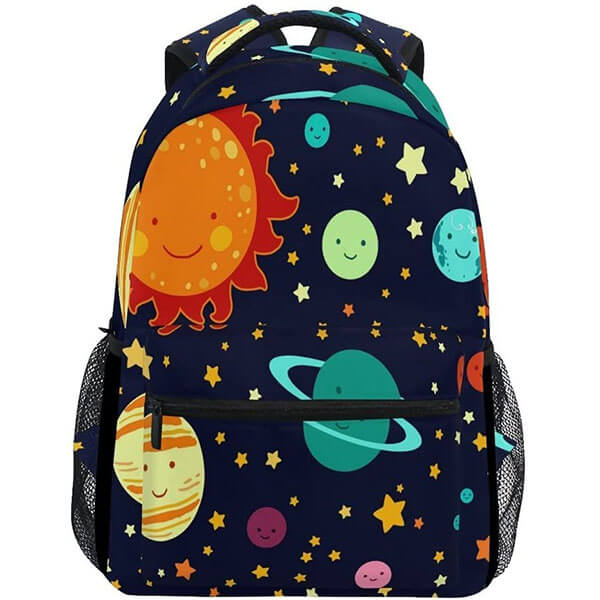 Colorful Solar System Themed Comfortable Backpack