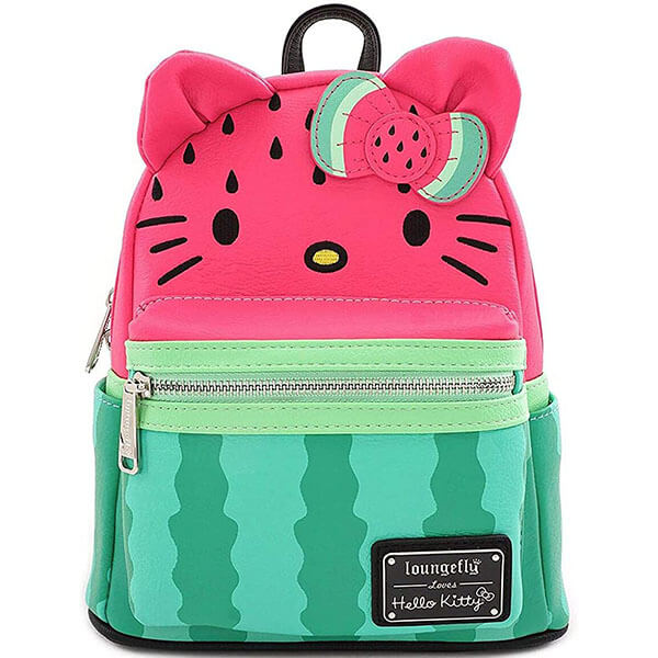 Cute Hello Kitty Faux Leather Watermelon Backpack