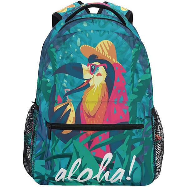 Funny Hawaiian Bird Print Backpack