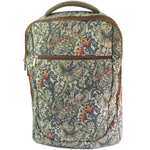 Golden Lily Tapestry Nylon Backpack