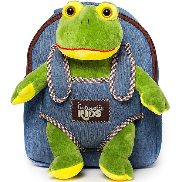 Kindergarteners Stuffed Frog Backpack