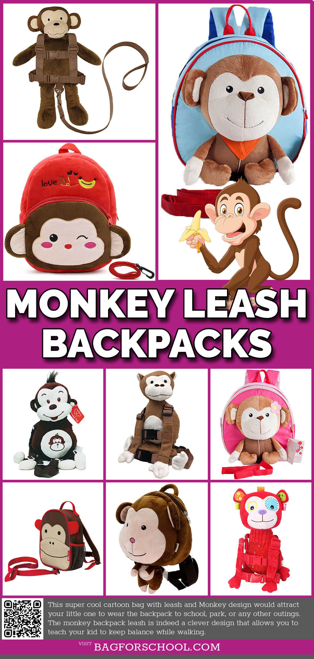 Monkey Leash Backpacks