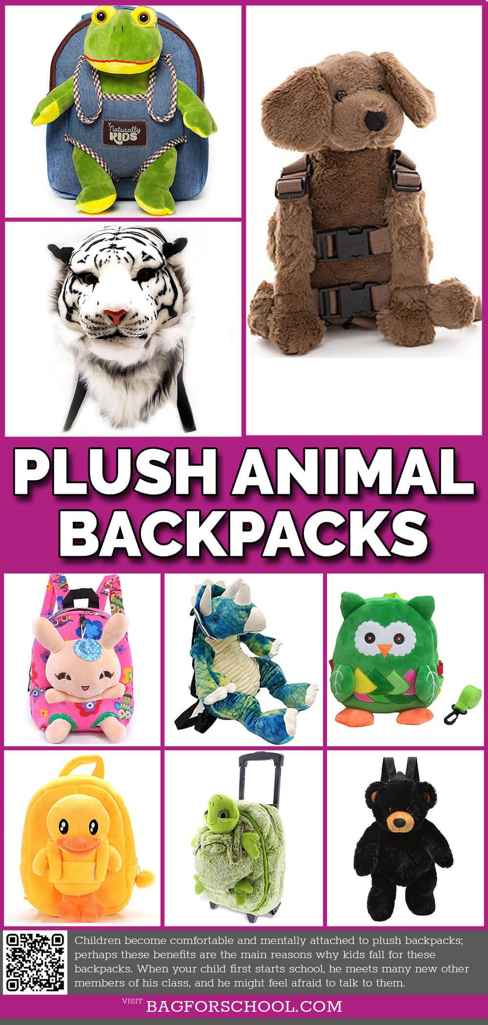 Plush Animal Backpacks