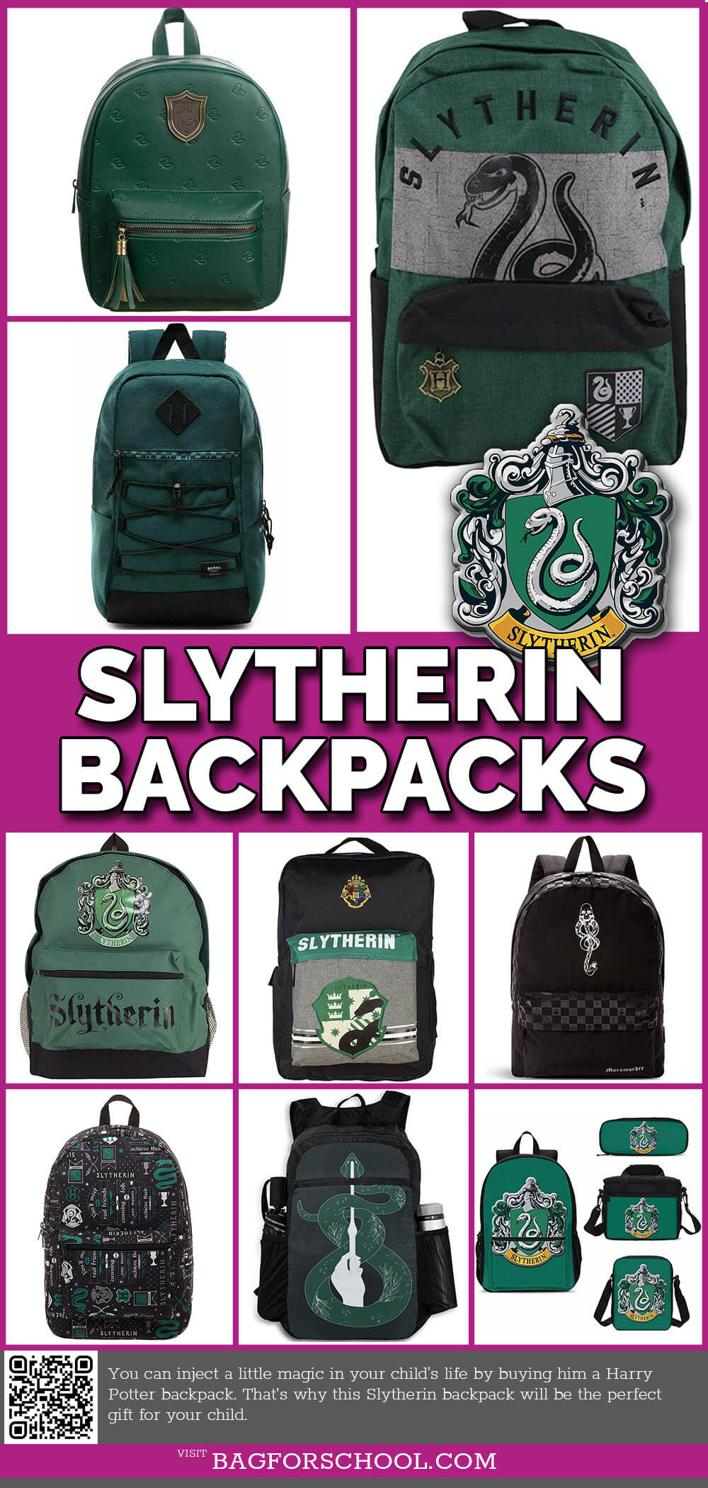 Slytherin Backpacks