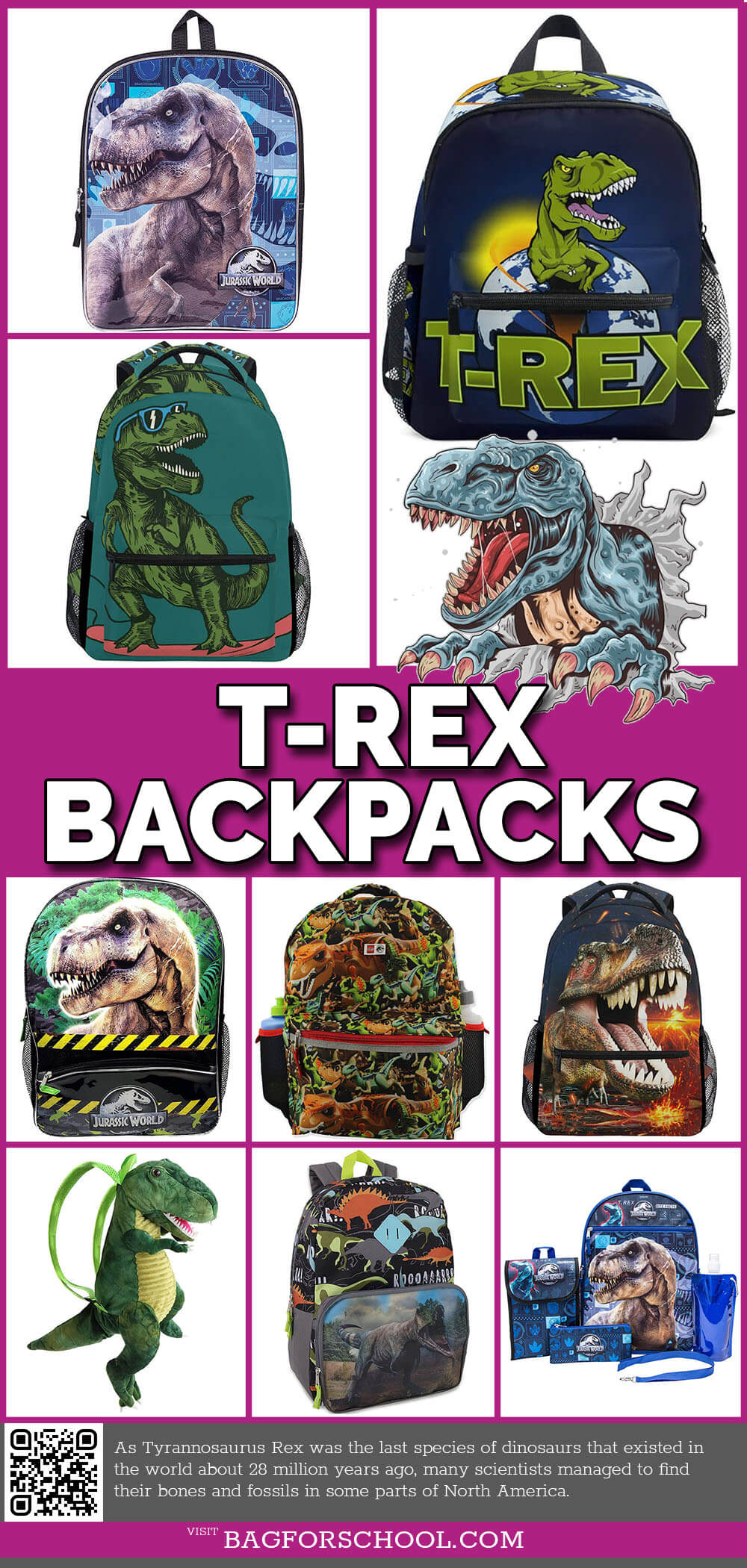 T-Rex-Backpacks