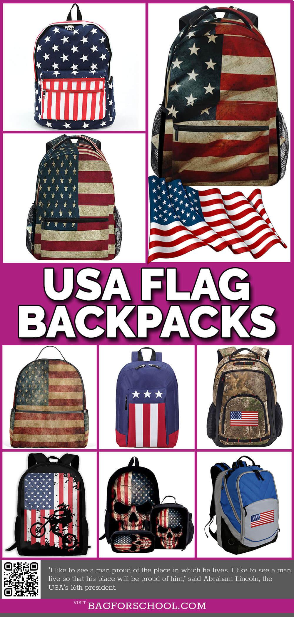 USA flag-backpacks
