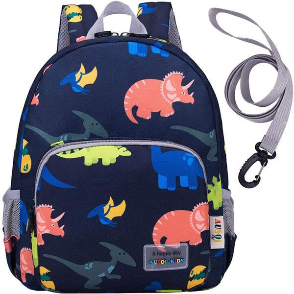 Deep Blue Dinosaur Toddler Harness Backpack