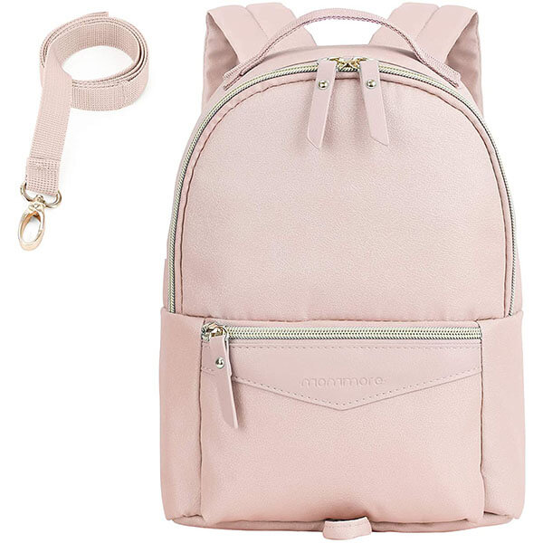 Light Pink Fashionable Child Leash Backpack