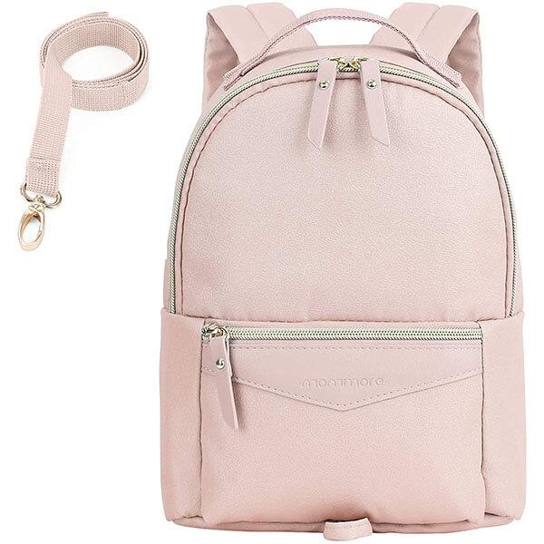 Light Pink Fashionable Child Leash Backpack