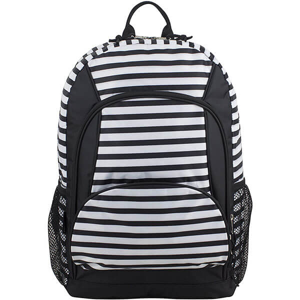 Multi-Pocket Stripes School Backpack