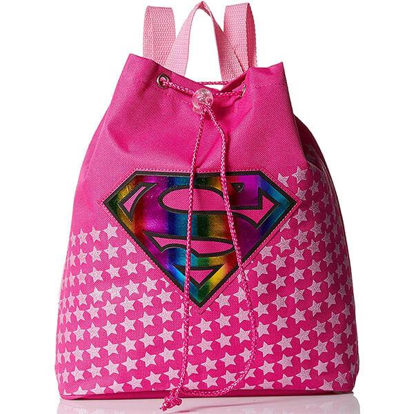 Superman Logo Pink Girls Backpack