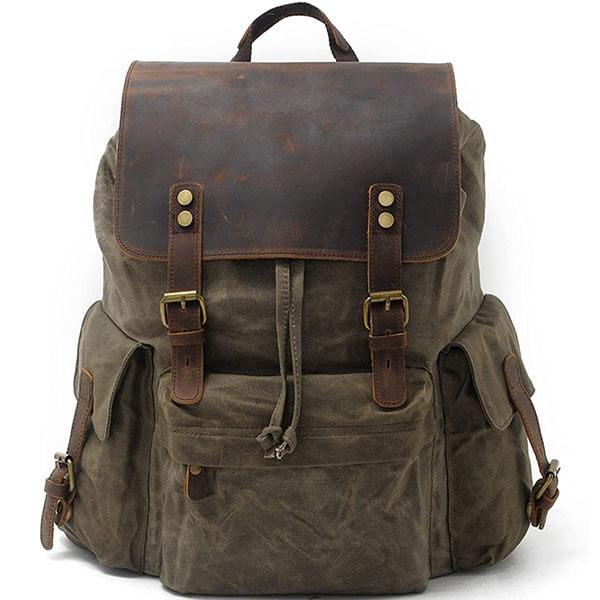 Vintage Water-Resistant Canvas Backpack