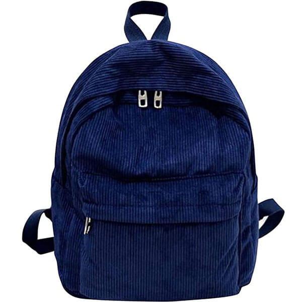 Corduroy Material Solid Color Backpack