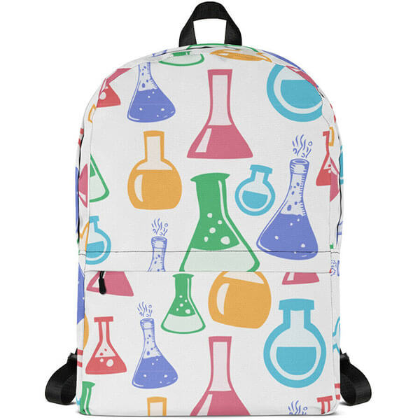 Glass Beakers- Laptop Backpack for School